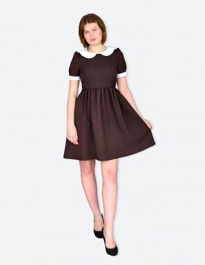 Школьное платье Дарья подростковое Горький шоколад