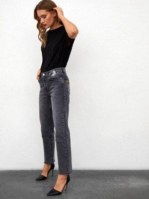 (008-1-coll) брюки джинсовые жен 32 (s) (8)