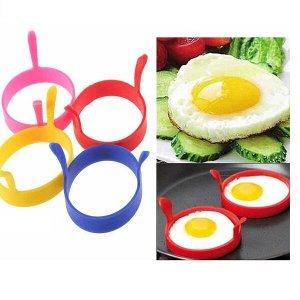 Силиконовая форма для яичницы и оладий, с ручками