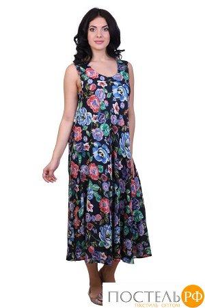 Платье (вискоза) №19-075-8 free size(48-54)