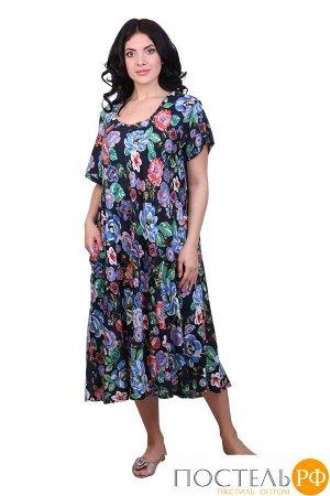Платье (вискоза) №19-075-8-1 free size(48-54)