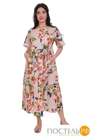 Платье Jethro Цвет: Бежевый,Мультиколор. Производитель: Ганг
