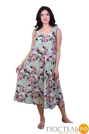 Платье (вискоза) №19-075-7 free size(48-54)