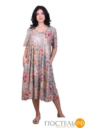 Платье (вискоза) №19-075-4-1 free size(48-54)