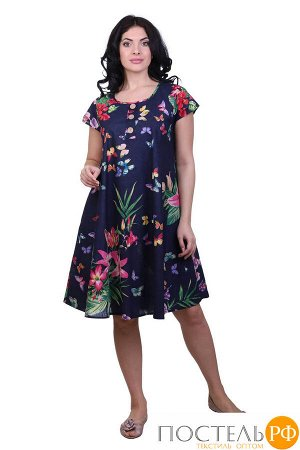 Платье (хлопок) №19-073-20 free size(48-54)