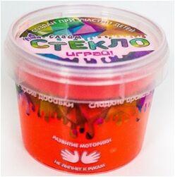 "Лепа Слайм ""СТЕКЛО""  Party Slime, в банке 100 гр, красный неон  00-00001268"