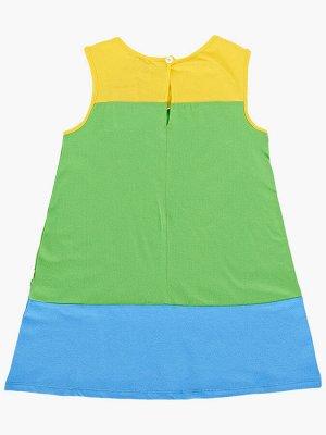 Платье (98-116см) UD 3311(4)сал/голуб