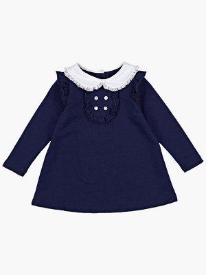 Платье с воротничком (80-92см) UD 1136(1)т.синий