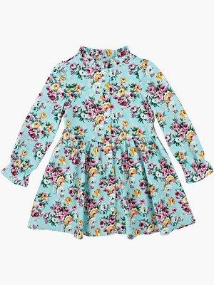 Платье UD 4986 гол/цветы