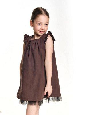 Платье (92-116см) UD 0495(1)кофе