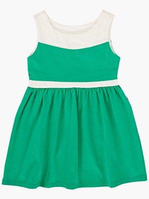 Платье (98-122см) UD 1493 кас/зеленый