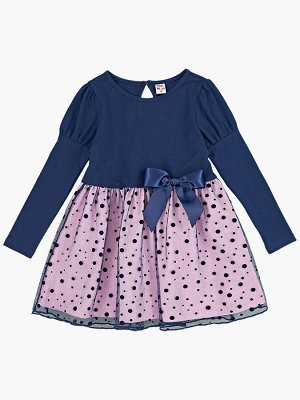 Платье UD 4418 син/роз/син горох