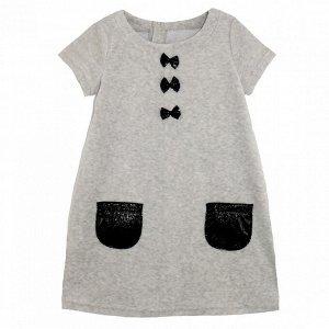 Платье велюр 727в для девочки