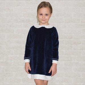 Платье велюр 564в для девочки