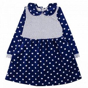Платье велюр 101В для девочки