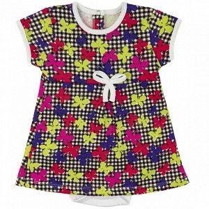 Боди-платье интерлок 0673200102 для новорожденного