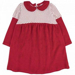 Платье велюр 166В1 для девочки