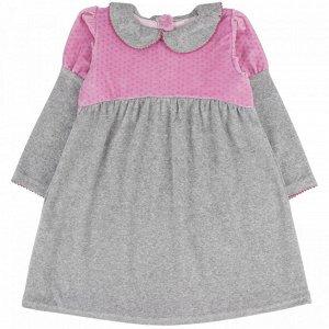 Платье велюр 166В2 для девочки