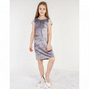Платье велюр 1148в ап для девочки