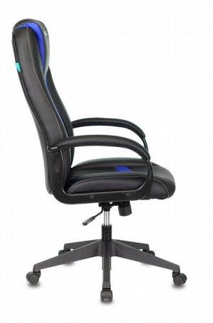 Кресло игровое Бюрократ VIKING-8N/BL-BLUE черный/синий искусственная кожа