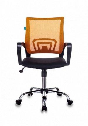 Кресло Бюрократ CH-695NSL оранжевый TW-38-3 сиденье черный TW-11 крестовина металл хром