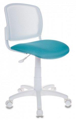 Кресло детское Бюрократ CH-W296NX белый TW-15 сиденье бирюзовый 15-175 сетка/ткань крестовина пластик пластик белый