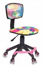 Кресло детское Бюрократ CH-299-F/ABSTRACT подставка для ног  спинка сетка абстракция