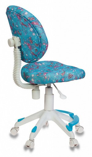 Кресло детское Бюрократ KD-W6-F/AQUA подставка для ног голубой аквариум сетка (пластик белый)