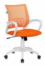 Кресло Бюрократ CH-W695N/OR/TW-96-1 оранжевый TW-38-3 TW-96-1 сетка/ткань (пластик белый)