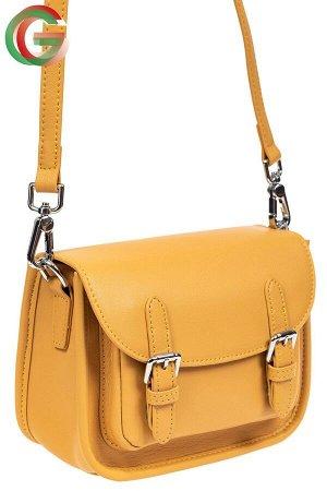 Кожаная сумка Saddle Bag, цвет рыжий