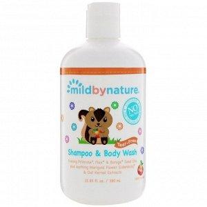 Mild By Nature, Детский шампунь и гель для душа «без слез», с запахом персика, 380 мл
