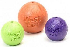 West Paw Zogoflex игрушка для собак мячик Rando 9 см оранжевый СКИДКА 20%