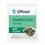 """Суп быстрого приготовления (морская капуста и говядина) """"Seaweed soup. Beef Flavor"""" 1 пакетик"""
