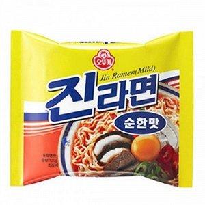 "Лапша ""Jin Ramen"" (Mild) со вкусом грибов 120г пачка"