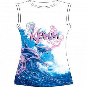 Подростковая футболка Розовые дельфины (L)