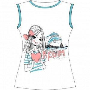 Женская футболка Люблю Крым (L) 105