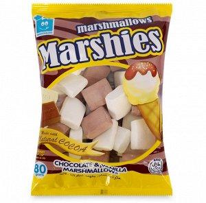 """Зефир """"МАРШИЗ"""" маршмеллоу с шоколадно-ванильным вкусом, 80 г. срок годности до 02.12.2020"""