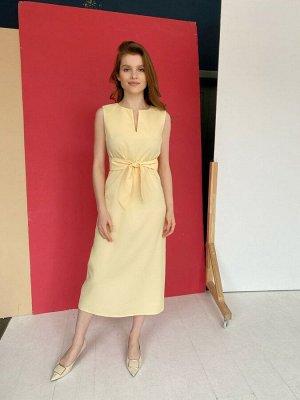 S1655 Платье лимонное