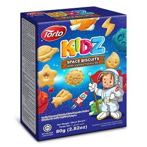 """Печенье """"TORTO KIDZ"""" - """"Космос"""" с ванильным вкусом тм """"TORTO"""", 80 гр."""