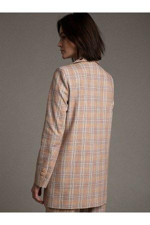 #100381 Жакет (Emka Fashion) бежевый
