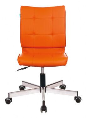 Кресло Бюрократ CH-330M/OR-20 без подлокотников оранжевый сиденье оранжевый искусственная кожа крест