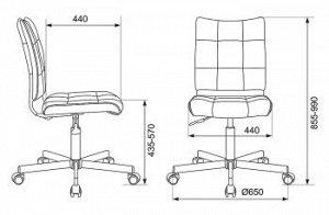 Кресло Бюрократ CH-330M/LT-21 без подлокотников песочный крестовина металл