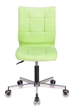 Кресло Бюрократ CH-330M светло-салатовый Velvet 81 крестовина металл хром