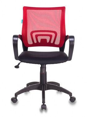 Кресло Бюрократ CH-695N/R/TW-11 спинка сетка красный TW-35N сиденье черный TW-11