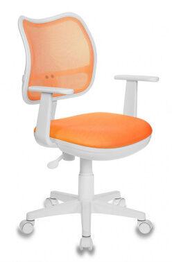 Кресло Бюрократ CH-W797/OR/TW-96-1 спинка сетка оранжевый сиденье оранжевый TW-96-1 (пластик белый)