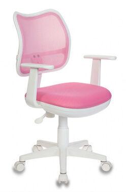 Кресло детское Бюрократ CH-W797/PK/TW-13A спинка сетка розовый сиденье розовый TW-13A колеса белый (пластик белый)