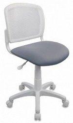 Кресло детское Бюрократ CH-W296NX белый TW-15 сиденье серый 15-48 сетка/ткань крестовина пластик пластик белый