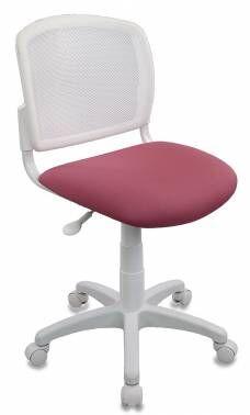 Кресло детское Бюрократ CH-W296NX белый TW-15 сиденье розовый 26-31 сетка/ткань крестовина пластик пластик белый