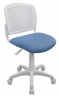 Кресло детское Бюрократ CH-W296NX белый TW-15 сиденье голубой 26-24 сетка/ткань крестовина пластик пластик белый