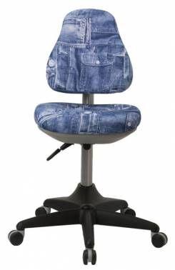 Кресло детское Бюрократ KD-2 синий джинса 50-31 крестовина пластик